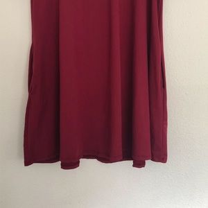 Agnes & Dora Tops - Agnes and Dora tunic Swing top Burgundy size Large